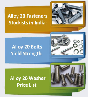 Alloy 20 Fasteners Supplier In India