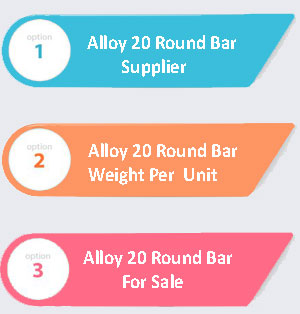 Alloy 20 Round Bar Supplier In India