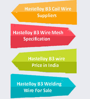Hastelloy B3 Wire Supplier In India